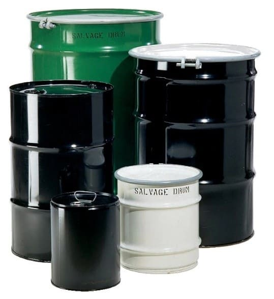 Open and Closed Top Steel Drums-Pails